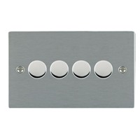 Picture of Sheer SS/BL 4 Gang 2 WAY 400W Resistive Dimmer