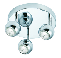 Picture of 3 Light Chrome Eyeball Spotlight