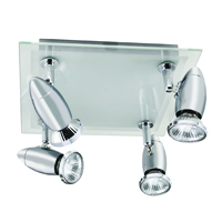Picture of 4 Light Chrome Spotplate Glass Backplate