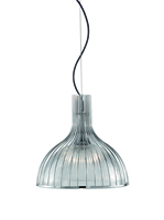 Picture of 1 Light Chrome Ribbed Pendant Lantern