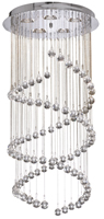 Picture of Chrome Double Spiral Fitting Complete with Glass Balls