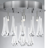 Picture of Dilato Chrome 4 Light Flush-Frosted Cone-Crystal Ball