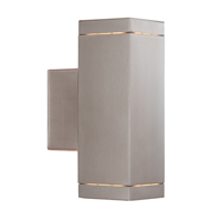Picture of 2 Light Satin Silver Square Outdoor Wall Bracket
