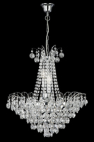 Picture of Limoges Chrome Finish Chandelier Trimmed with Sunflower Crystals