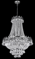 Picture of Versailles 9 Light Chrome Chandelier complete with Crystals