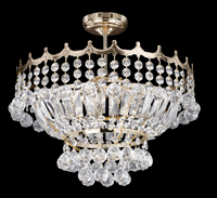Picture of Versailles Elegant Gold Plated Semi-Flush Chandelier Trimmed with Crystal