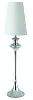 Picture of Pair Chrome Candlestick Table Lamps