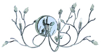 Picture of Willow Maple Leaf Crystal Chrome 3 Light Wall Bracket