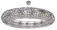 Picture of Chrome Oval 24 Light Crystal Fitting