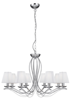 Picture of 8 Light Chrome Fitting - White String Shades