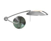 Picture of Satin Silver Single Swingarm Halogen Wall Bracket