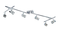 Picture of Ice Cube Glass 6 Light Bar Spot Chrome