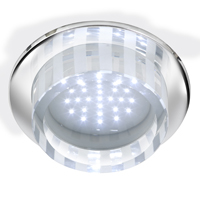 Picture of Recessed Chrome Ceiling Light - White LED
