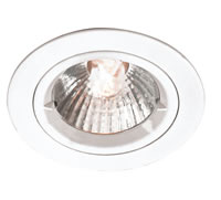 Picture of 240V GZ/GU10 Cast Aluminium Fixed Lock Ring Halogen Spotlight