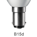 Picture for category B15 d Small Bayonet Cap