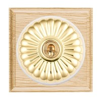 Picture of Fluted Dome Light Oak Ovolo Edge with White Collars