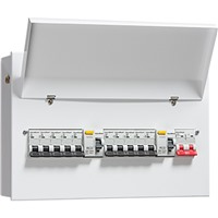 Picture of 12 Way Dual RCD 3 Metal 12 way Consumer Unit