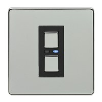 Picture of LightwaveRF 250W 1 Gang Dimmer - Chrome