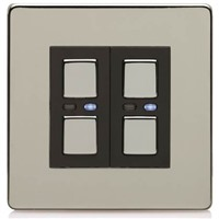 Picture of LightwaveRF 250W 2 Gang Dimmer - Chrome