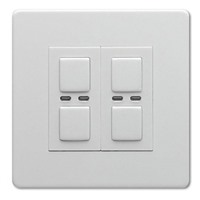Picture of LightwaveRF 250W 2 Gang Dimmer - White