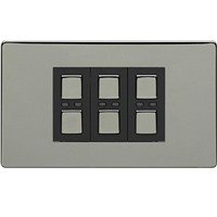 Picture of LightwaveRF 210W 3 Gang Dimmer - Black Chrome