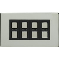 Picture of LightwaveRF 210W 4 Gang Dimmer - Chrome