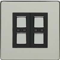 Picture of LightwaveRF Double Slave Dimmer Switch - Chrome