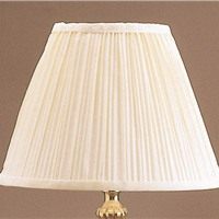 "Picture of Shade 20"" Cream Pleat Shade"