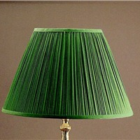 "Picture of Shade 20"" Green Pleat Shade"