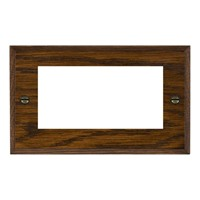 Picture of 4 Module EuroFix Plate / Woods Dark Oak Chamfered Edge with Black Surround Inserts