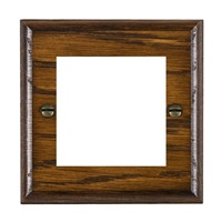 Picture of 2 Module EuroFix Plate / Woods Dark Oak Ovolo Edge with White Surround Inserts