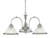 Picture of 3 Light Fitting Satin Silver Diner Opaque Glass