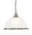 Picture of 1 Light Pendant Satin Silver Diner Opaque Glass