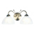 Picture of 2 Light Antique Brass Wall Bracket with Alabaster Glass