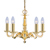 Picture of 5 Light Polished Brass Fitting Assembled Candle No Glass