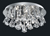Picture of Hanna 4 Light Chrome Flush Fitting Complete with Shape Crystals