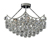 Picture of Chrome 5 Light Semi Flush Clear Ball Basket