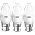 Picture of 5.3-40W LED Base Classic B 40 B22 - Pack of 3