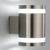 Picture of 2 Light Satin Silver Tube Outdoor Wall Bracket